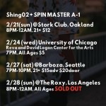 Shing02 / Feb Tour Schedule