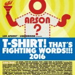 LOS APSON? presents T-SHIRT! THAT'S FIGHTING WORDS!!! 2016